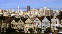 Entdecke die wohl berühmtesten viktorianischen Häuser, die Painted Ladies in San Francisco auf einer 21-tägigen Küstentour von #Seattle nach #SanDiego mit dem #Mietwagen.