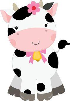 Cute Farm for Girls Clip Art. Farm Animal Party, Party Animals, Farm Party, Cow Birthday, Girls Clips, Baby Cows, Clip Art, Farm Theme, Cute Images
