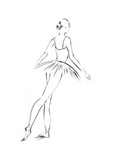 Ballerina Drawing Art Print, Minimalist Art, Black and White Drawing, Ballet Dance Modern Art by CanotStopPrints on Etsy Ballerina Drawing, Dancer Drawing, Drawing Artist, Drawing Sketches, Ballerina Tattoo, Black And White Canvas, Black And White Drawing, Outline Drawings, Art Drawings