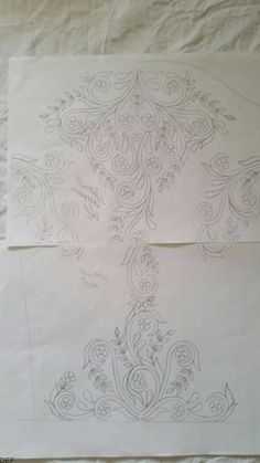 Discover thousands of images about 0671912222 Border Embroidery Designs, Hand Embroidery Patterns, Embroidery Thread, Beaded Embroidery, Machine Embroidery, Corset Sewing Pattern, Sewing Patterns, Irish Crochet, Crochet Motif