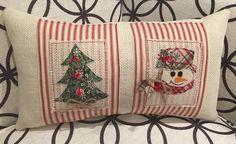 Celebrate the Season with our Christmas Trees Pillow Cover featured from our 2017 Red Ticking Christmas Collection. We are all about the simple and pleasing design of the red and white stripes embellished with 5 fabric Christmas Trees in coordinating colors of Red and Green, the