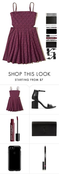 """CUT IT OUT"" by m-phil ❤ liked on Polyvore featuring Hollister Co., Alexander Wang, Charlotte Russe, Yves Saint Laurent, Speck, Lipstick Queen, Muji and vintage"