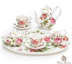Fine bone china tea set_Wisdom Porcelain. Posted by Redlandspoodles.com