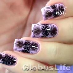 Beautiful Nail Designs, Cute Nail Designs, Beautiful Nail Art, Nail Art Hacks, Gel Nail Art, Gel Nails, Nail Nail, Nail Art Designs Videos, Nail Art Videos