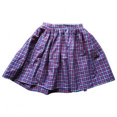 Pre-owned AMERICAN APPAREL SKIRT (975 UAH) found on Polyvore featuring skirts, bottoms, purple, american apparel, american apparel skirt, multicolor skirt, blue skirt and purple skirt