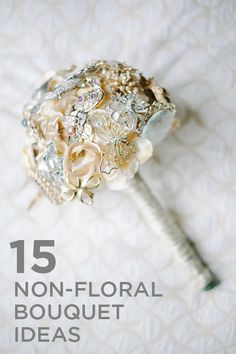 15 Cool Non-Floral Bouquet Ideas {via Project Wedding}