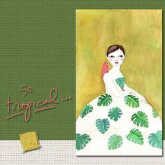 """So Tropical"" Illustration de l'artiste croate contemporaine Irena Sophia"
