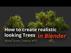 MSC #10 - How to create realistic looking trees (Blender Tutorial EN) - YouTube