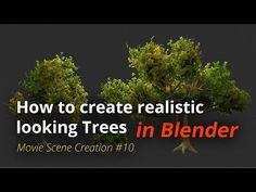 MSC #10 - How to create realistic looking trees (Blender Tutorial EN) - YouTube