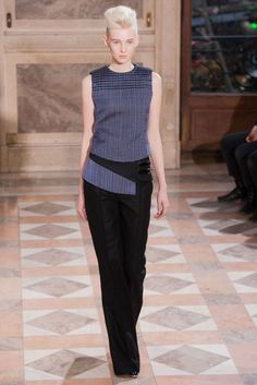 What's better than wearing a fanny pack? A shirt that looks like there's a fanny pack attached. || Bouchra Jarrar (Spring 2014 Couture)