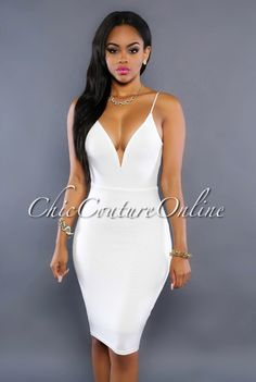 Chic Couture Online - Nubia Off-White Knotted Open Back Dress, (http://www.chiccoutureonline.com/nubia-off-white-knotted-open-back-dress/)
