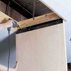 I Built My Own Fold Away Attic Ladder Easy Heres The