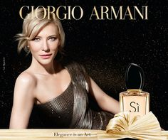 Face of Giorgio Armani's Si fragrance since Cate Blanchett returns for a new advertisement for the brand. The perfume gets a special holiday… Armani Si Perfume, Armani Fragrance, Perfume Ad, Cate Blanchett, Beauty Ad, Fashion Beauty, Anuncio Perfume, Giorgio Armani Beauty, Celebs