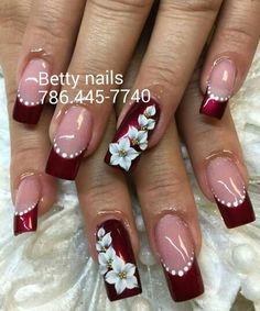 62 New Ideas Nails Acrilico Grises 3d Acrylic Nails, 3d Nails, Nail Art 3d, Nail Art Designs Videos, Gel Nail Art Designs, Pretty Nail Art, Beautiful Nail Art, Rhinestone Nails, Bling Nails