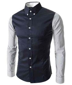 The Bradbury Tailored Fit Shirt Dark Blue