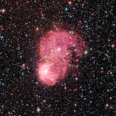 NGC 248 in the Small Magellanic Cloud NGC 248 is a pair of nebulas found in the SMC. It is among a number of glowing hydrogen nebulas in the dwarf satellite galaxy of our Milky Way galaxy. Intense radiation from the brilliant central stars is heating hydrogen in each of the nebulas, causing them to glow red. http://hubblesite.org/image/3970/news_release/2016-42