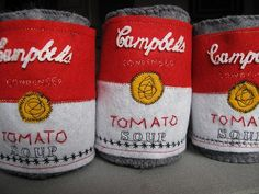 soft, squishy, felt campbells soup cans by ephemeral design by amywilson, via Flickr