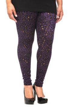 Purple Cheetah Print Leggings