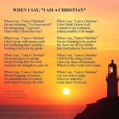 "Maya Angelou's poem ""Christian"" ... ""I'm just a simple sinner / Who received…"