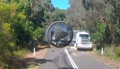 VIDEO: Big Rig Fails To Avoid Tree In The Road