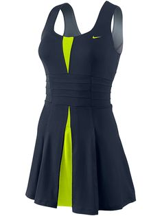 Color & Style: Nike Women's Autumn Statement Knit Tennis Dress. Extremely flattering detail in the back - click on dress for alternate views.