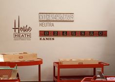 Neutra and Eames house numbers from Heath Ceramics
