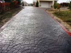 Stamped concrete driveway! gorgeous!