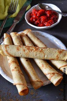 Naleśniki których smak pokochacie Polish Recipes, Polish Food, Crepes, Sausage, Food And Drink, Gluten Free, Yummy Food, Cooking, Ethnic Recipes