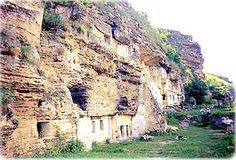 Tipova Village, an Orthodox cave monastery in Moldova