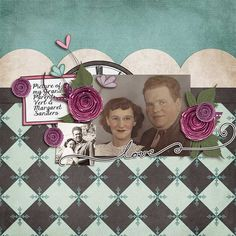 Layout by Natalie using Miss You Digital Scrapbooking Kit by Simple Girl Scraps
