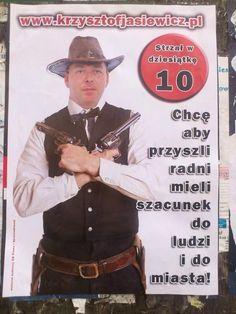 Pistolety jako symbole Prawa i Sprawiedliwości? Ten Pan to strzał w dziesiątkę! ;) #plakatywyborcze #wybory2014