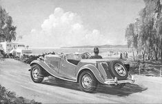 History of the MG TD - The MG T-types Classic Cars Online, Antique Cars, History, Prints, Vintage Cars, Historia