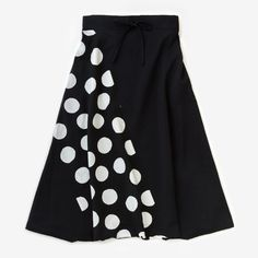 Harem Pants Black Polka Dots Muslin Wool : SOU • SOU US Online Store