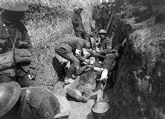 Heridos en trinchera