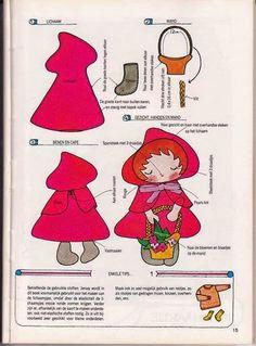 Chapeuzinho Vermelho com molde