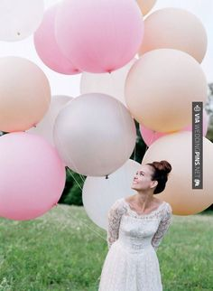Nice - Balloons are a great prop for bridal and engagement photography | CHECK OUT MORE GREAT PINK WEDDING IDEAS AT WEDDINGPINS.NET | #weddings #wedding #pink #pinkwedding #thecolorpink #events #forweddings #ilovepink #purple #fire #bright #hot #love #romance #valentines #pinky