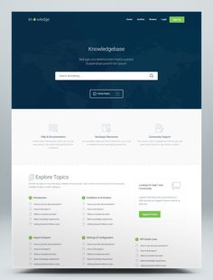 Knowledgebase & Documentation HTML Website Template Open Source Projects, Html Website Templates, Knowledge, Design, Facts