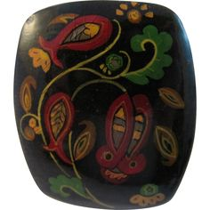 Vintage Russian Lacquer Pin
