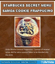 Starbucks Secret Menu: Samoa Cookie Frappuccino