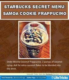 Starbucks Secret Menu: Samoa Cookie Frappuccino