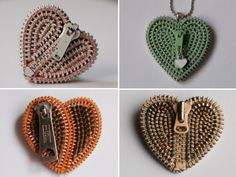 zipper crafts patterns | Now at Toni and Tree , zippers take the shape of hearts for a change ...