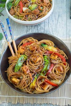 Authentic & perfect easy Chinese Chicken Chow Mein recipe. Only 30 minutes to make & the BEST tasting sauce! Healthier & better than restaurant & take-out