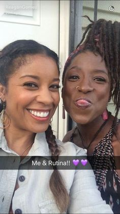 Reagan Gomez and Rutina Wesley on Queen Sugar set today. Queen Sugar is the first tv series of Ava DuVernay.Coming this fall to OWN!