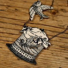 Birdcage Necklace by mamaslittlebabies on Etsy, $35.00