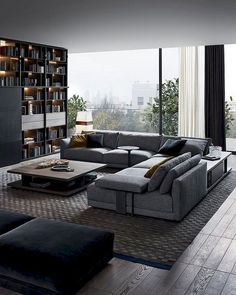 65 Pretty And Comfort Modern Corner Sofa For Living Room - Modern Furniture: Affordable, Unique, Edgy Living Room Modern, Living Room Interior, Home Living Room, Living Room Decor, Small Living, Cozy Living, Apartment Living, Salas Home Theater, Corner Sofa Living Room