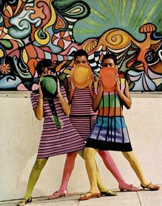Ebony 1967 Vol.22, No.10 | via tumblr, street art has been around forever, so vibrant and colourful.