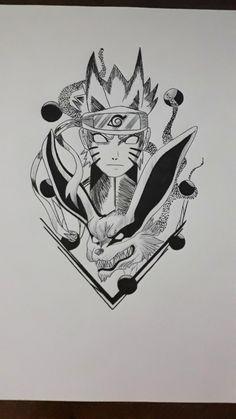 Z Tattoo, Manga Tattoo, Alien Tattoo, Anime Tattoos, Naruto Drawings Easy, Naruto Sketch Drawing, Anime Girl Drawings, Drawing Sketches, Naruto E Kurama