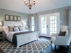 59 Best Blue Gray Bedroom images | Blue gray bedroom, Gray ...
