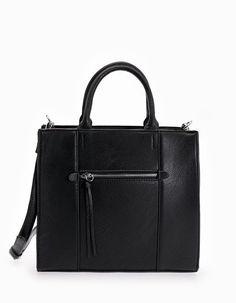 Bag with zip detail - Bags Bags, Fashion, Handbags, Moda, Fashion Styles, Fashion Illustrations, Bag, Totes, Hand Bags