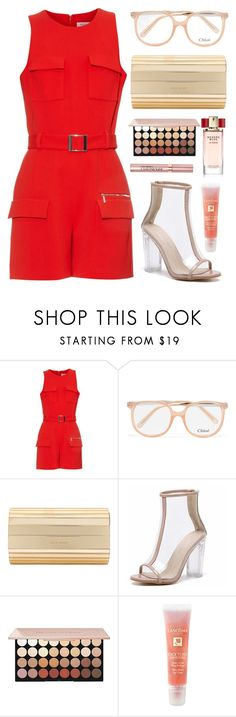 """""""Playsuit Style"""" by nicolesynth ❤ liked on Polyvore featuring Thierry Mugler, Chloé, Elie Saab, Lancôme and Estée Lauder"""